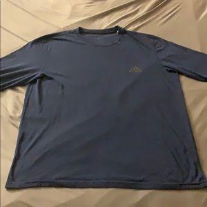 Men's Navy Adidas Long Sleeve Tee